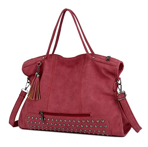 Hale Tomlinson Woman Europe And United States New Fashion Rivet Bag Zipper Large Capacity Portable Single Shoulder Bag