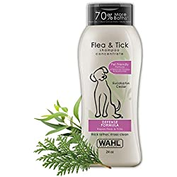 Wahl Flea & Tick Repelling Dog Shampoo for Pets - Defense Formula with Eucalyptus Cedar & Rosemary - 24 Oz