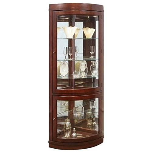 Beaumont Lane Corner Curio Cabinet in Chocolate Cherry