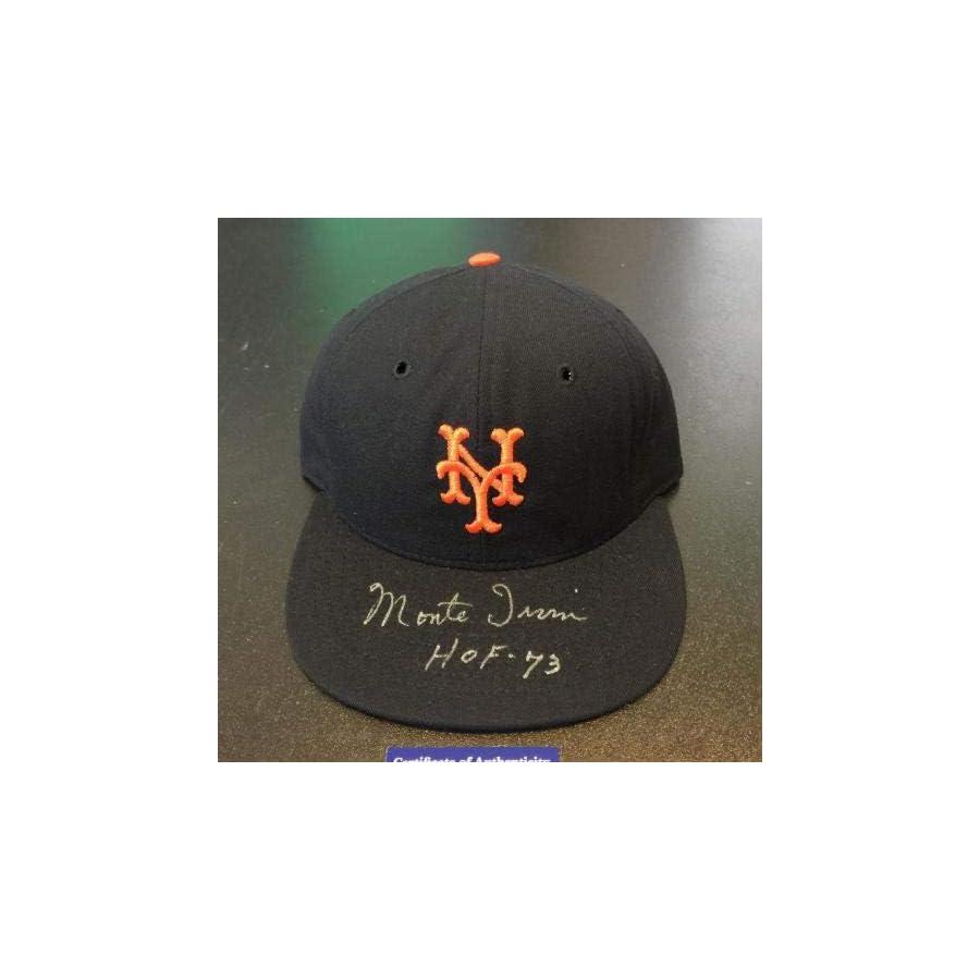 "Monte Irvin""HOF 1973"" Signed Game Model New York Giants Hat COA PSA/DNA Certified Autographed Hats"