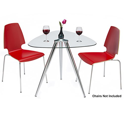 Mango Steam Lisbon 3-Sided Bistro Table (Table Bistro Glass)