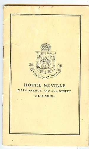 Hotel Seville Fifth Avenue and 29th Street Tourist Guide with map (New York - New Map Avenue York 5th