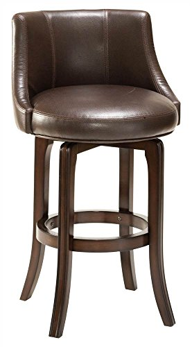 Cheap Napa Valley Brown 25″ High Swivel Counter Stool