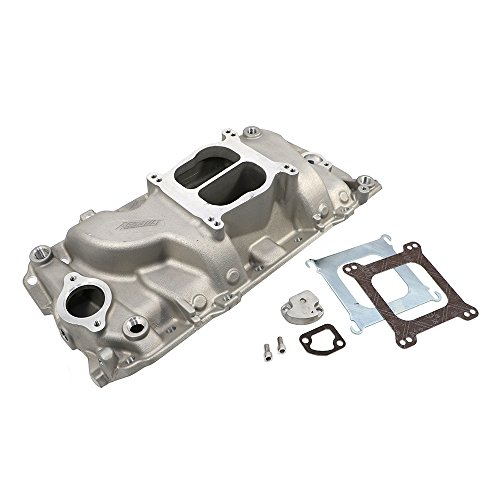 Bbc Manifold Intake (Assault Racing Products PC3001 Big Block Chevy Dual Plane Oval Port Satin Aluminum Intake Idle-6000 RPM BBC)