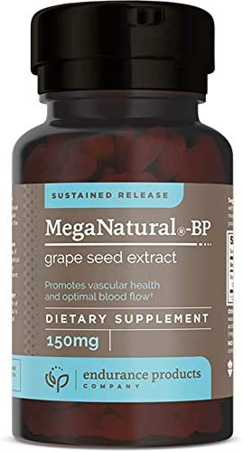 MegaNatural-BP, 150mg Sustained Release Grape Seed Extract, 60 Tablets, Endurance Products Company