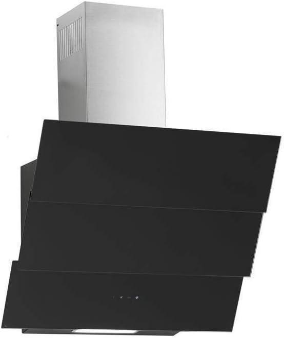 Campana extractora libre de cabeza Atria Negro Cristal 60 cm, eficiencia energética: A 850 m³/h Motor Acero Inoxidable Chimenea: Amazon.es: Grandes electrodomésticos
