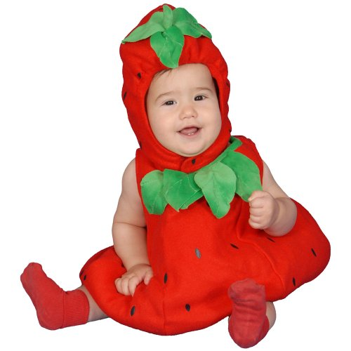 Dress Up America Baby Strawberry, Red, 6-12 Months -