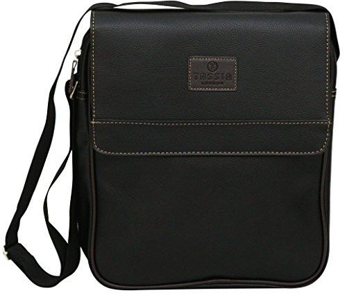 Unisex Schultertasche - PU-Kunstleder - Mini-Reisetasche