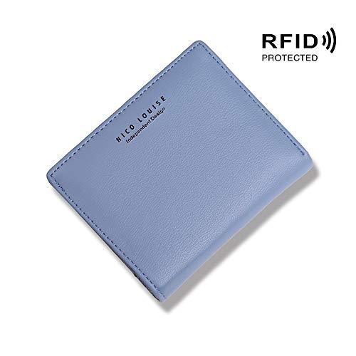 Nico Lousie Women Wallet Slim RFID Blocking Bifold Leather Coin Card Holder Purse