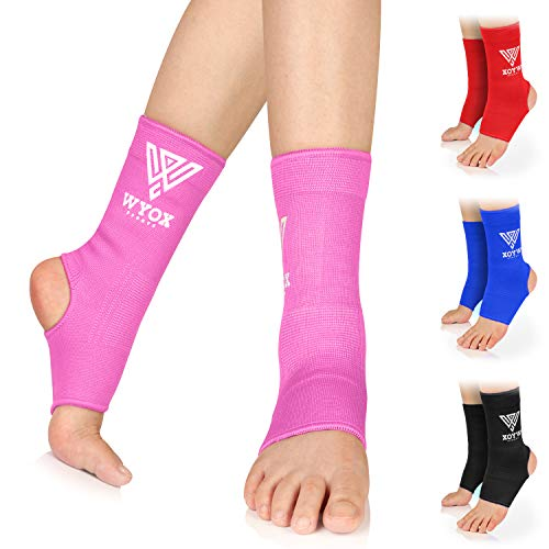WYOX Ankle Wraps Support Boxing Gear for Men Women Muay Thai Ankle Support Kickboxing Wraps Gym Ankle Support (Pair)
