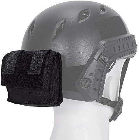 EMERSONGEAR Molle Tactical Helmet Pouch Bolsa de equipo extraíble Tactical Fast Accesorios para casco Bolsa de utilidad Funda para casco Bolsa de contrapeso Bolsa de contrapeso