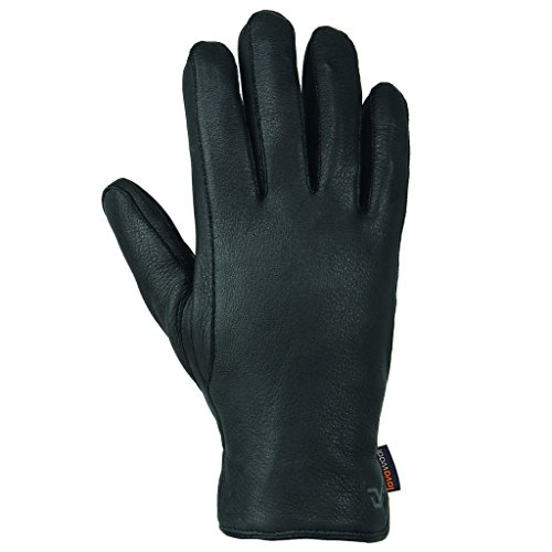 Gordini Black Glove (Gordini Deerskin Lavawool Glove - Black - Medium)