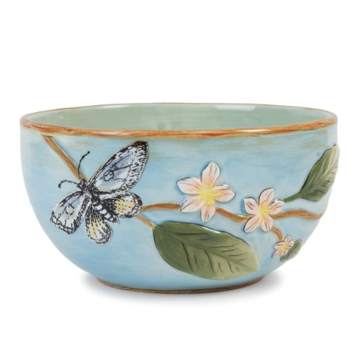Toulouse Collection, Fruit Bowl, Blue (Fitz & Floyd Round Bowls)