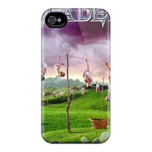 Perfect Hard Cell-phone Cases For Iphone 4/4s (oit8633nizQ) Support Personal Customs Vivid Megadeth Band Image