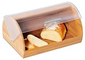 Kesper 18580 - Recipiente para guardar el pan con tapa acrílica