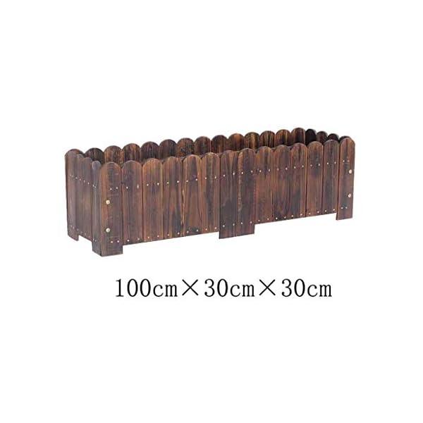 HEMFV Legno Planter Box, Forma for Il Giardino, Patio o Finestra Esterna Vaso di Fiori di impianto di Sicurezza 2 spesavip