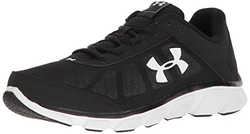 Under Armour Men's Micro G Assert 7 Running Shoe, Black (001)/White, 9 M