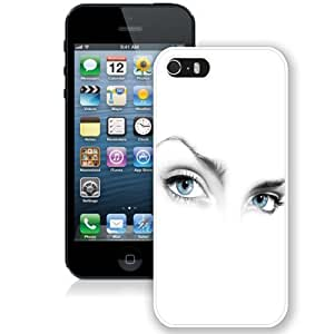 Personalized Phone Case Design with Mystery Woman Eyes on White Background iPhone 5s Wallpaper in White