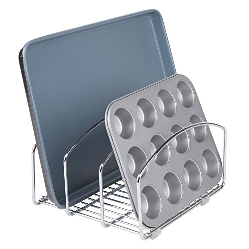 iDesign Classico Metal Kitchen Cookware Organizer Rack for Cutting Boards, Cookie and Baking Sheets, Muffin Pans, 8.4