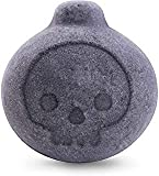 Black Bath Bombs Activated Charcoal Gift Set - Cute Bomb Shaped Skull Face - Perfect for Bubble & SPA Bath, 12 x 1.6 oz by Dyfina