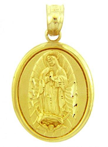 Petits Merveilles D'amour - 10 ct 471/1000 Religieux Charms - Vierge Marie Or Jaune Pendentif