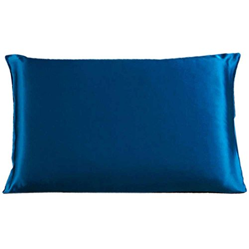 [Savena Both Sides 22 Momme Mulberry Silk Pillowcase Benefit to Sleeping Soft Hypoallergenic Avoid Hair Falling Noble Design with Hidden Zipper 100% Natural Silk(Standard(20