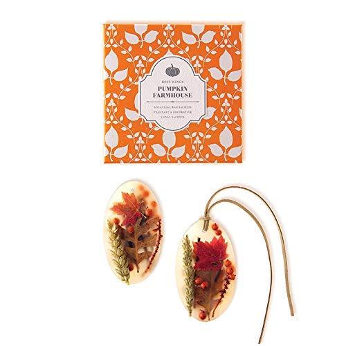 Rosy Rings Pumpkin Farmhouse Oval Botanial Wax Sachet Set by Rosy Rings