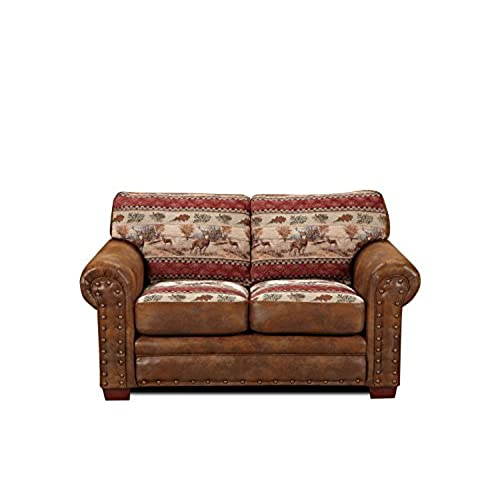 rustic leather sofa. American Furniture Classics Deer Valley Love Seat Rustic Leather Sofa