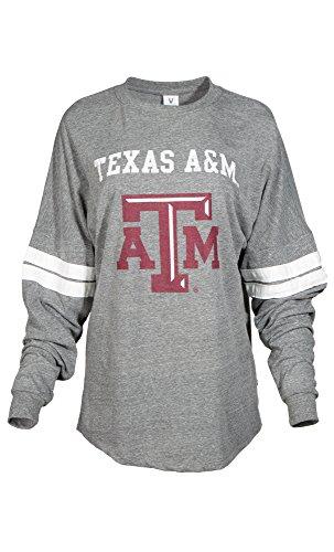 NCAA Texas A&M Aggies Betty Long Sleeve Tri-Blend Football Jersey T-Shirt, Large, Tri (Aggies Long Sleeve)