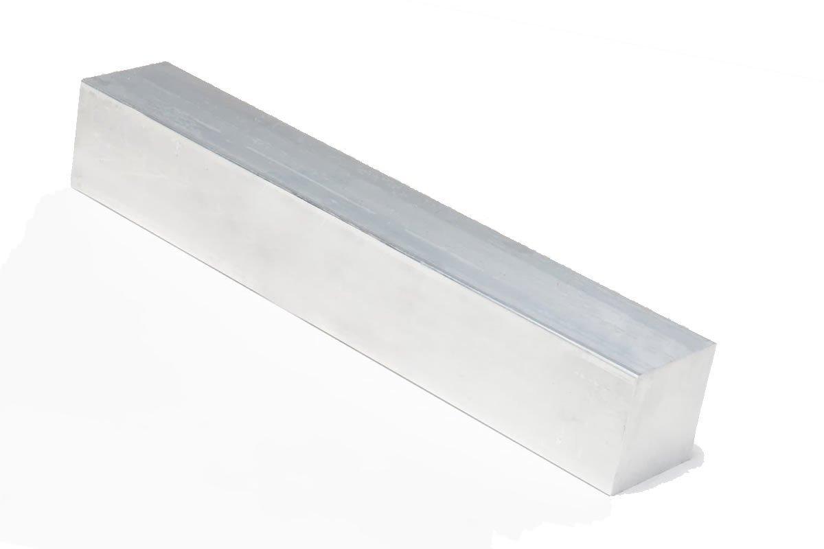 "1//2/"" x 3//8/"" 8 Foot Mill Finish Aluminum Flat Bar"