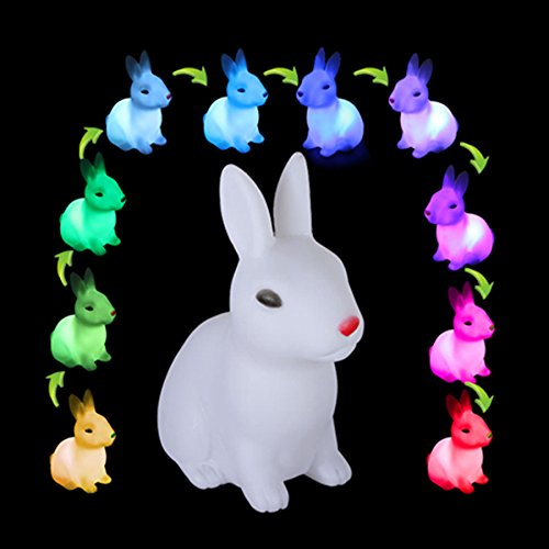 Holland Costumes Girl (Led Night Lights - Cute Rabbit Color Changing Led Night Lamp Light Room Christmas Gift - Bunny Light Bunnies Lamp Rabbit Lights Cute Fixtures Ceiling Night Color Changing - 1PCs)