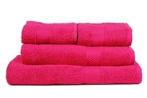 Trident Hot Pink 4 Pcs Couple Bath Towels Set