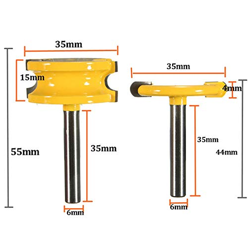 Zebery 2pcs 1/4 Inch Shank Canoe Flute and Bead Router Bits Set For Woodworking ()