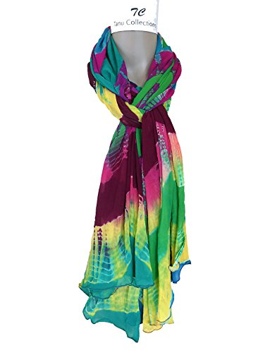 TC Luxury lightweight chiffon print scarves - Multi color - Stripe Holiday Scarf
