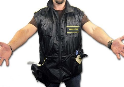 DT Dog Training Vest with Removable Long Sleeves, Black/Yellow, X-Large (Size: 44-Inch)