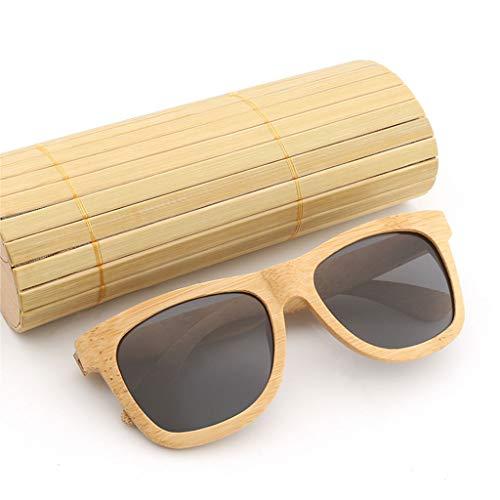 Wayfarer Bambou Gray de Grand Soleil Lunettes Lunettes en Lunettes soleil rétro et Femmes Couleur de de en Lunettes de de polarisées Bois Brown Format Hommes Bois Bambou PFRHWgTqF
