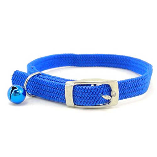 SCOTT Stretch Elastic Nylon Cat Safety Collar with Bell, 12