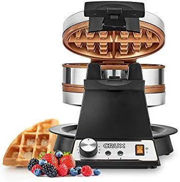 CRUX Double Rotating Belgian Waffle Make