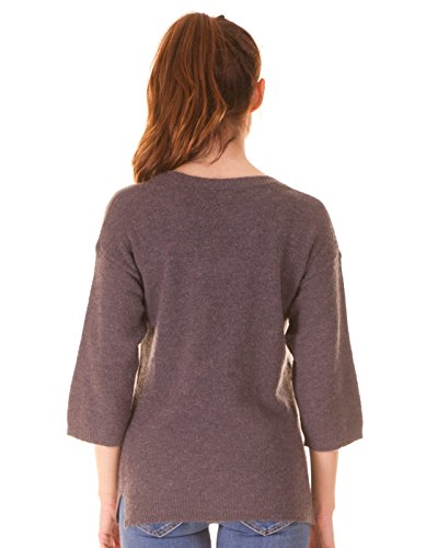Knitted v-neckline pullover by Ichi (M - Grey)