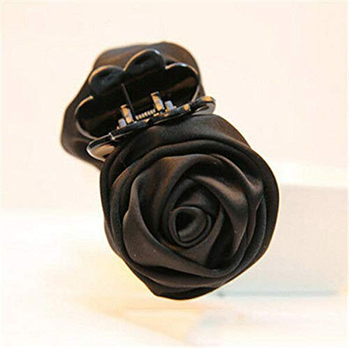 (Women Vogue Rose Flower Hair Clip Claw Comb Hairpin Clamp Accessory Headwear New (Colors - Black))