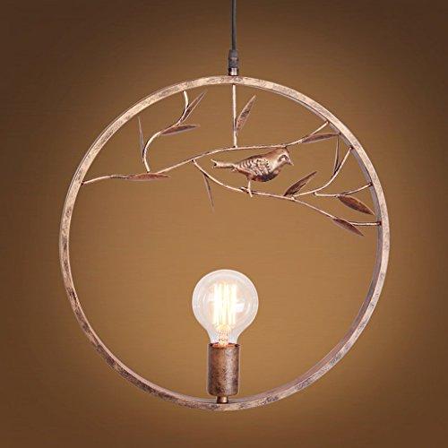 Mozeny Retro Industrial Iron Birdie Shape Metal Hanging Light Chandelier LOFT Creative E27 Edison Adjustable Ceiling Pendant Lamp Kitchen Barn Warehouse Farmhouse Suspension Light