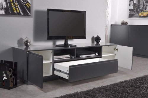 Meuble TV Gris anthracite SOHO: Amazon.fr: Cuisine & Maison