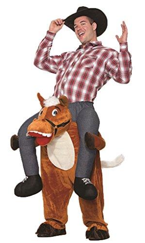Ride Em Cowboy Costumes (Adult size Horse Back Riding Ride em Cowboy - Plush Pull On Ride On Horse Costume)