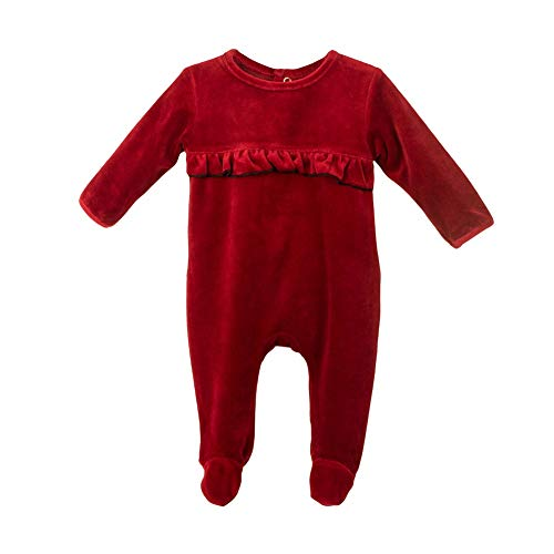 Bentevi Baby Clothes Ruffle Sleep N Play Footie Coverall Romper Boy or Girl Unisex Long Sleeve (3m -