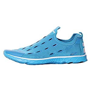 UJoowalk Womens Mens LeightWeight Casual Quick Drying Slip-on Athletic Aqua Water Shoes Ladies Swim Shoes (11 B(M) US, Blue)