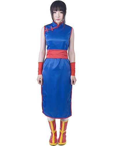 [Miccostumes Women's Dragon Ball Chi Chi Cosplay Costume (women s, Blue)] (Bulma Costume)