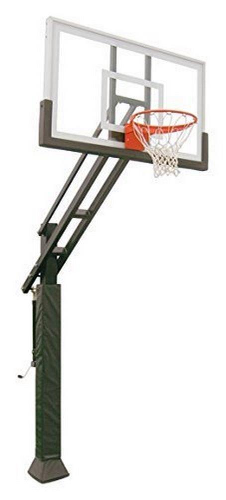 Triple Threat in-ground調整可能バスケットボールゴールフープと36