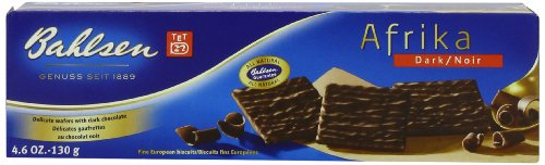 Bahlsen Wafers - Bahlsen Afrika, Dark, 4.6-Ounce Packages (Pack of 8)