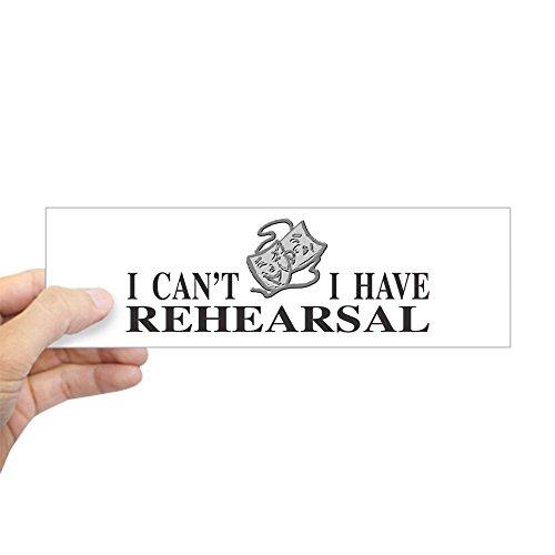 - CafePress Rehearsal With Drama Masks Bumper Sticker 10