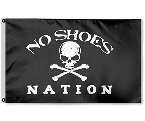 APFoo No Shoes Nation Flag 3x5Feet Banner by APFoo